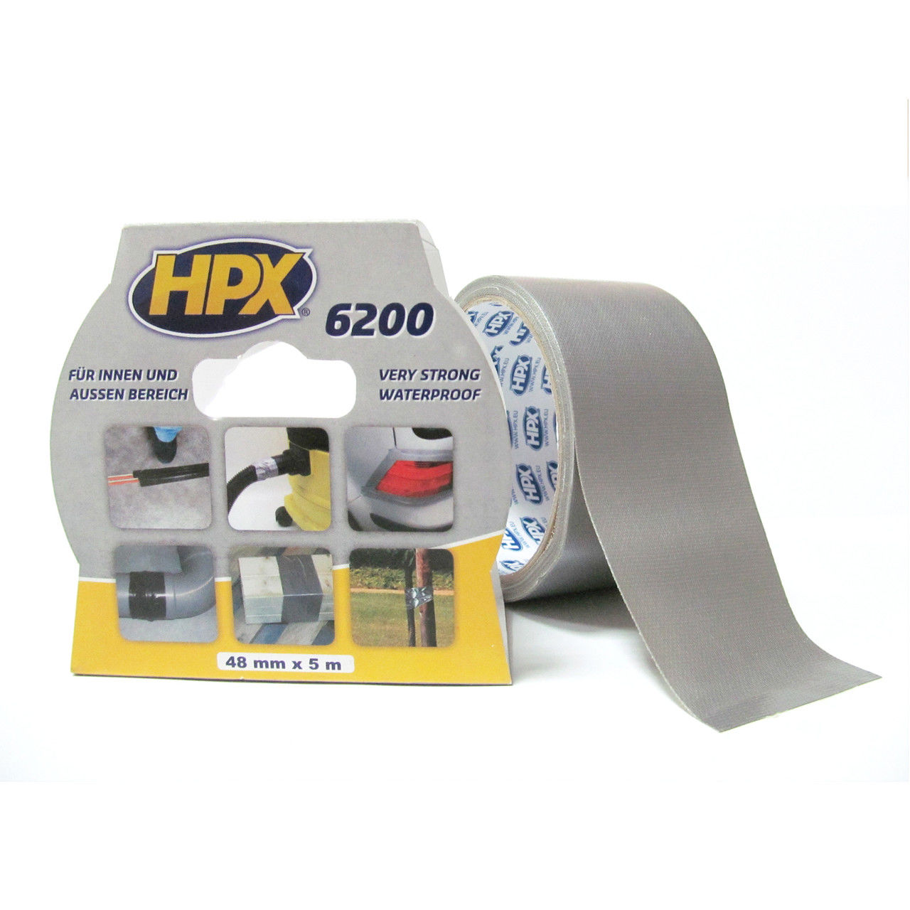 HPX Скотч армов.посил.50ммх5м срібл.CB5005