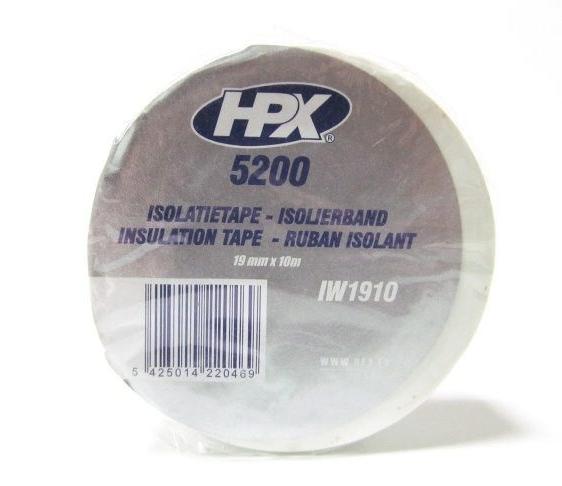 HPX Ізострічка ПВХ/5200/19*10м біла IW1910