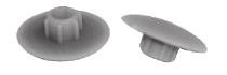 Кришка пласт.чорна KONFIRMAT