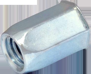 RSHp-Гайка М10/1-2,5 клеп 1/2 6гр зм.пот S12