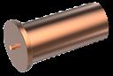ISO13918 Втулка 5х8/М3 привар 4.8 обмідн