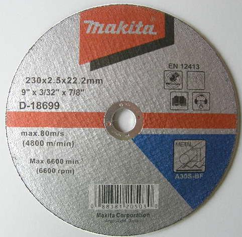Диск по мет.125x2.5 Makita