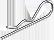 DIN11024 Шплінт 7,0(6,3мм) пруж подвійн цб