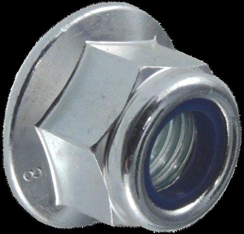 Гайка самостопорящаяся с пластиковым кольцом и буртиком