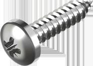 Саморез по металлу с закругленной цилиндрической головкой