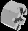 DIN935 Гайка М6 коронч 8 цб