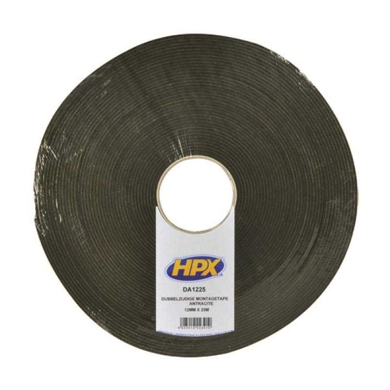 HPX Стрічка 2-ст.монтаж.12ммх3мм 25м чорн.DA1225