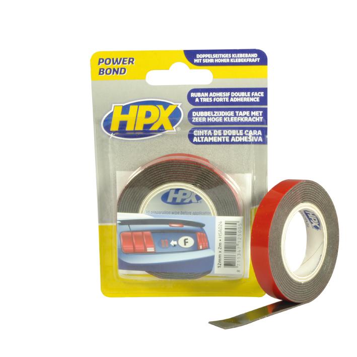 HPX Стрічка 2-ст.акрил.посил.19мм*2м чорн.HSA025S