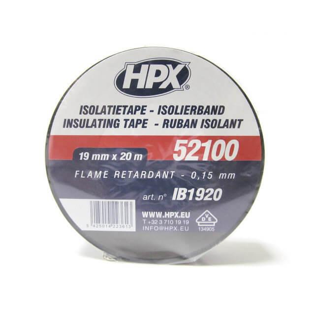 HPX Ізострічка ПВХ/52100/19*20м чорн.IB1920