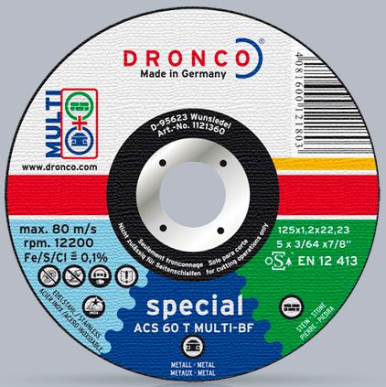 Диск отрезной по металлу и керамической плитке (Dronco)