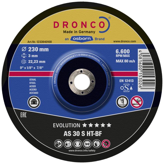 Диск отрезной по чугуну и цветным металлам (Dronco)
