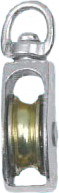 Блок одношкивный с вертлюгом никелированный