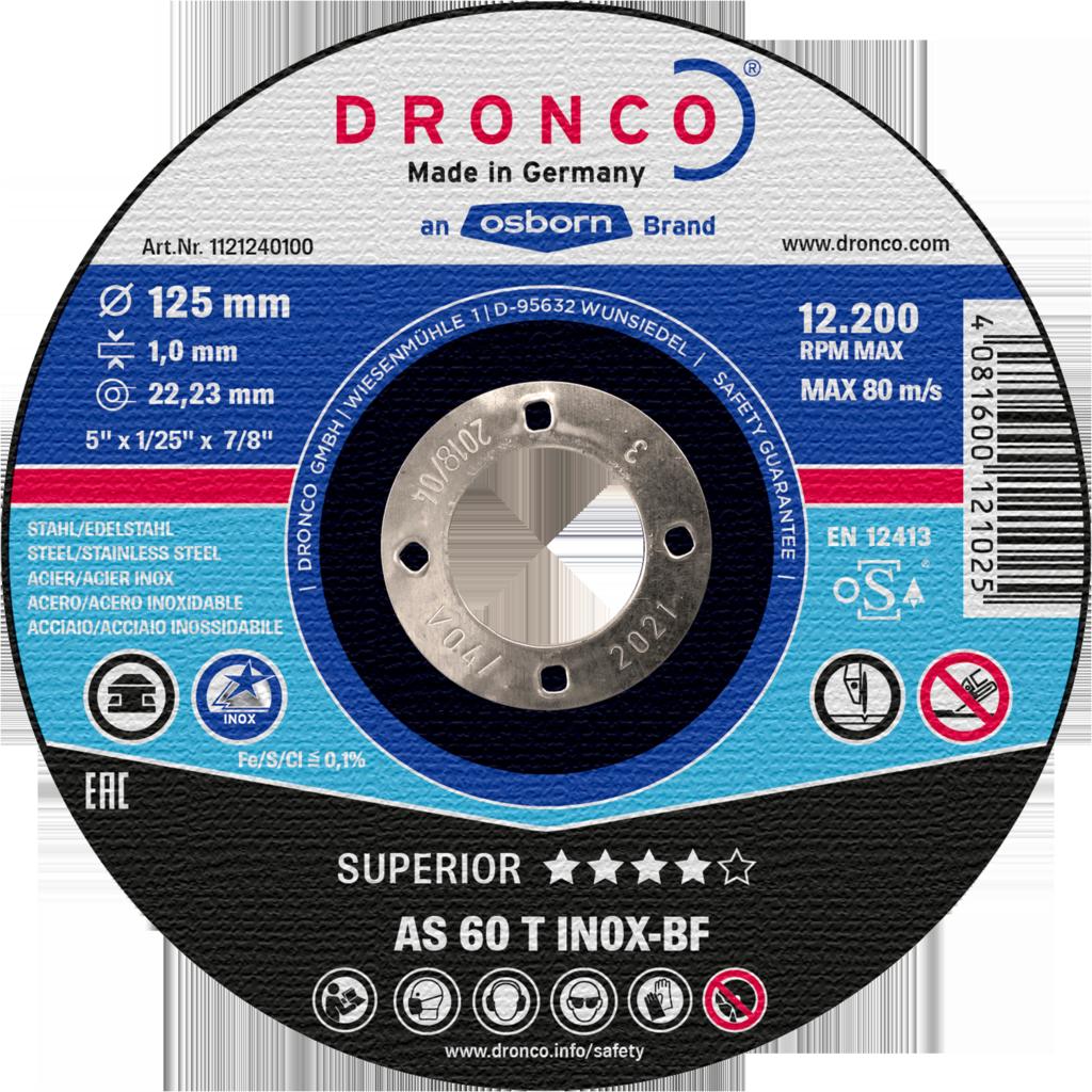 Диск отрезной по нержавеющей стали (Dronco)