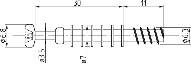 Винт мебельный с потайной головкой (евроболт)