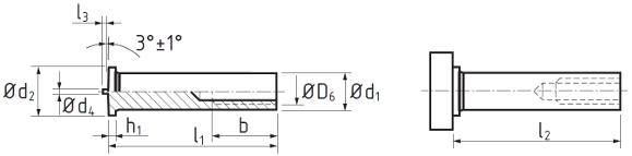 Втулка резьбовая приварная омедненная DIN EN ISO 13918 тип IT. Чертёж
