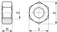 Гайка шестигранная ISO 4032. Чертёж