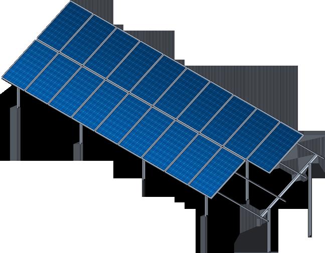 Двухрядная вертикальная система крепления ФЭМ