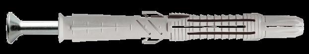 Дюбель T88/V с шурупом с потайной головкой