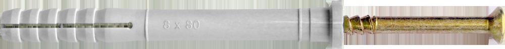 Дюбель UCX с ударным шурупом, с цилиндрическим буртиком (E)