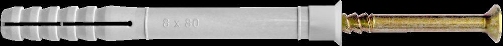 Дюбель UCX с ударным шурупом, с потайным буртиком (E)