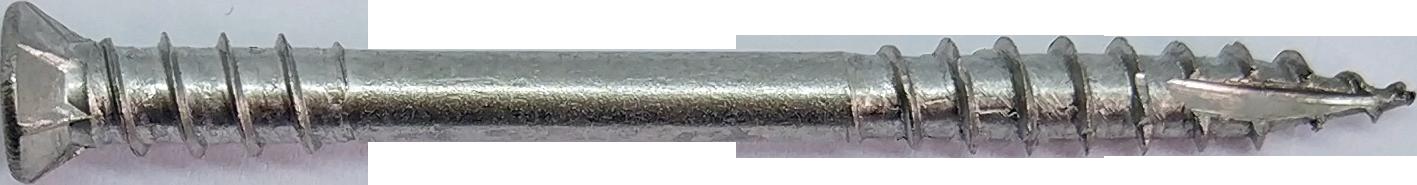 HW-T2i Шуруп с потайной головкой, двухрезьбовой, для террасной доски