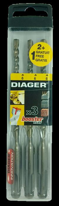 Набор буров Booster 6х160 (3шт.)