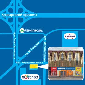 Месторасположение магазина METALVIS
