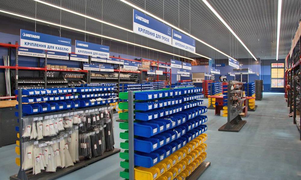Открытие 3-го магазина крепежных изделий METALVIS в г. Харьков