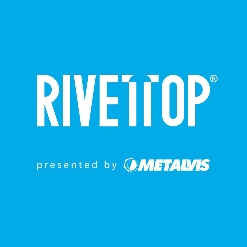 Логотип RIVETTOP (presented by METALVIS)