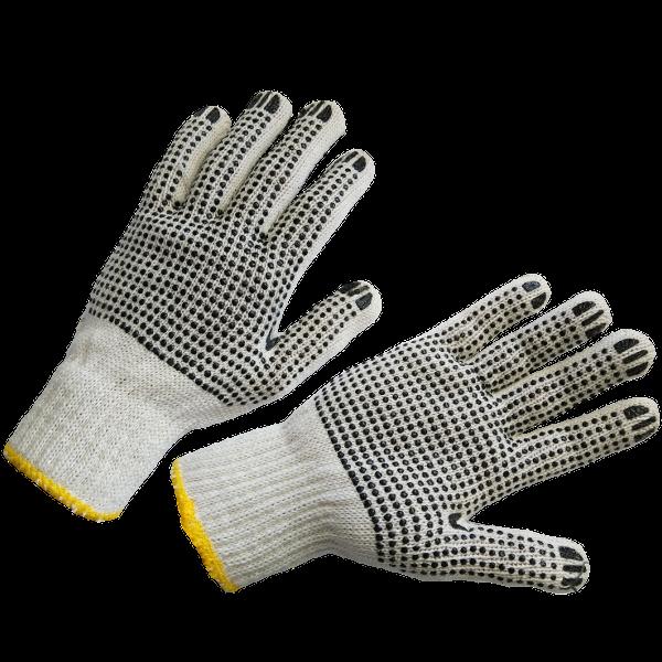 Перчатки трикотажные с двухсторонним ПВХ-рисунком
