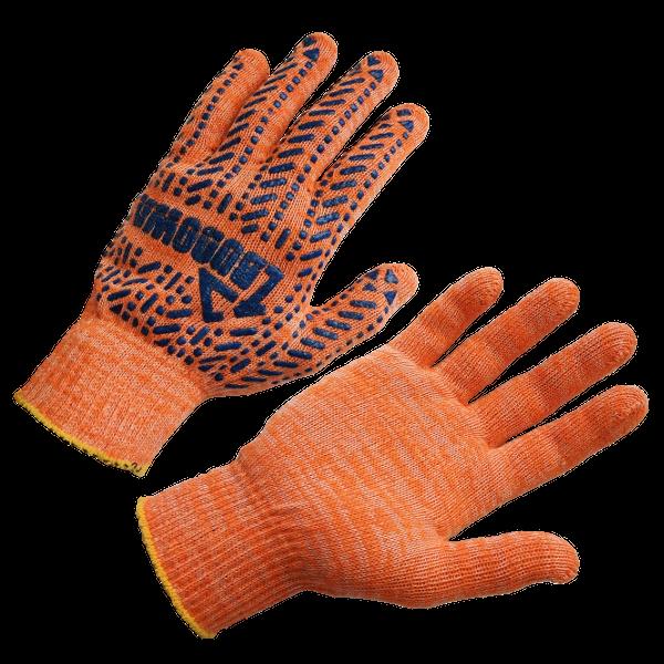Перчатки трикотажные с ПВХ-рисунком