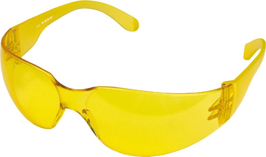 Противоосколочные очки, жёлтые (TOPEX)