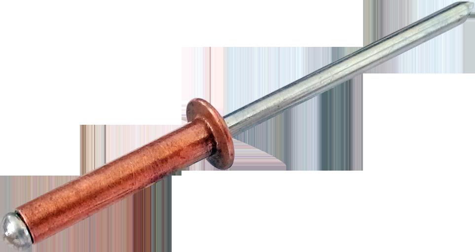RF-Заклёпка CU/ST c плоской головкой