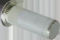 RFgr-Гайка клепальная закрытая рифленая c плоской головкой