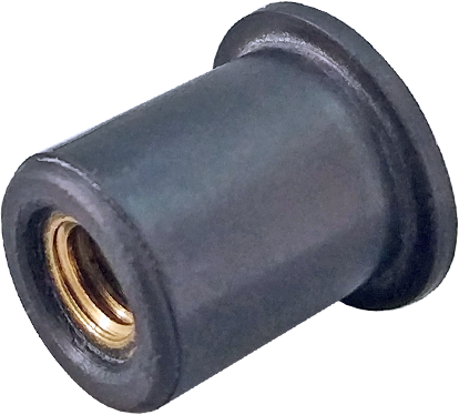 RFneo-Гайка клепальная, с латунной резьбовой вставкой, неопреновая