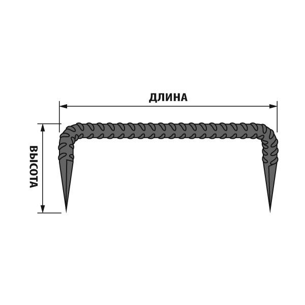 Размерность строительной скобы