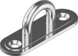 Скоба стационарная, удлиненная низкая основа