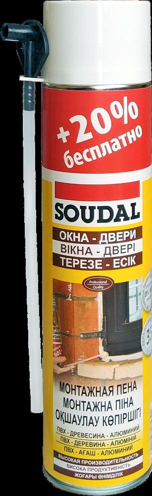 Піна монтажна SOUDAL 500мл+20%