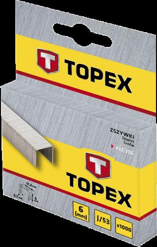 Скоба 8мм(1000шт), тип J,TOPEX