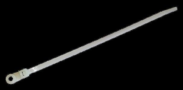 Стяжка кабельная прозрачная с монтажным отверстием