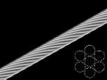 Трос 1 мм 1х7 цб КУСКИ