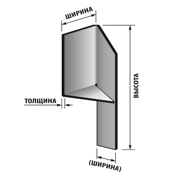 Размерность стандартной угловой пластины